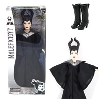 Wholesale 10pcs/Lot Faddish Latest 2014 Movie Sleeping Beauty Maleficent Princess Aurora Maleficent PVCPlush Doll Free Shipping