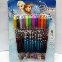 FROZEN princess water color pen children fashion Painting Utensils stationery 12colors/set /water color brush/Frozen Glitter Pen