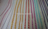 15m/lot Chandelier wedding Crystal tree decoration colorful acrylic octagon beaded curtain garland