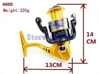 YB4000 13BB 320g Ball Bearings Left Right Hand Interchangeable Collapsible Handle Fishing Wire Line wheel Fishing Spinning Reel