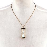 fashion necklaces for women 2014 women vintage Sandglass pendant necklace ,NL-2160