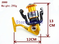 YB2000 13BB 290g Ball Bearings Left Right Hand Interchangeable Collapsible Handle Fishing Wire Line wheel Fishing Spinning Reel