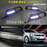 CAR-Specific 2011-2013 Volkswagen VW Jetta Sagitar LED DRL LED Daytime Running Light for Free Shipping