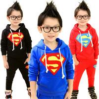 3 color Children's clothes set ! spring&autumn Girls boys pants + long-sleeved hoodies suits 2 pieces sets  ELZ-T0323
