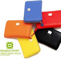 New Arrival   fashion Korean SSMAZIE Sport liberty zipper stylish wallet for smartphone smart wallet case