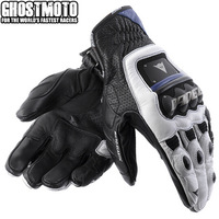 2014 GUANTO 4 STROKE Gloves genuine leather Matal for Off Road ATV Motocross Racing glove motorbike motorcycle Glove M L XL