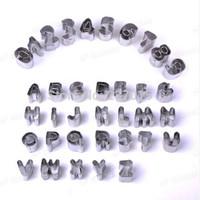 37Pcs Alphabet Letter & Number Cake Cookie Decorating Cutter Sugarcraft Mold Set New