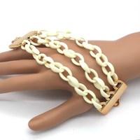 Free Shipping High Quality Resin Multi-layer Resin Bangle Bracelet Hot Selling  Fashion Elegant Jewelry