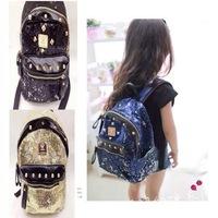 Hot sale Children schoolbag flash card rivet Boys and girls travel package kindergarten Backpack