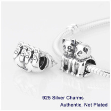L222 2014 New Guaranteed 100% 925 Sterling Silver 2 Cats Screw Core Stopper Charm Beads DIY Jewelry Fit Pandora Style Bracelet