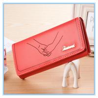 Free Ship korean women's wallet leather purse fashion clutch wallet change purses couple lover's purse female wallet bag lady