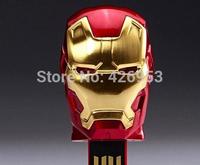 Free Shipping 2014 Wholesale Popular Iron Man Models Full Capacity 4GB 8GB 16GB 32GB 64GB USB Flash Pen Drive Gift