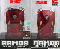 3D Battle Damaged Avengers Marvel Iron Man Movie Mark VII Case with LED Light Cool Red Cover For Apple iPhone 4 4S 5 5S