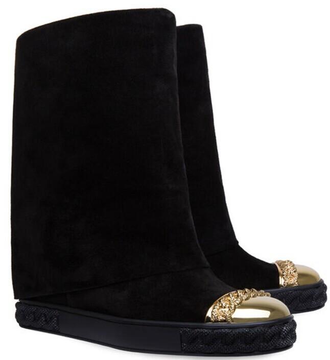 Nueva llegada de las mujeres de cuero negro genuino martin botines botas de moto de invierno y otoño de zapatos de mujer de talla grande 4-11