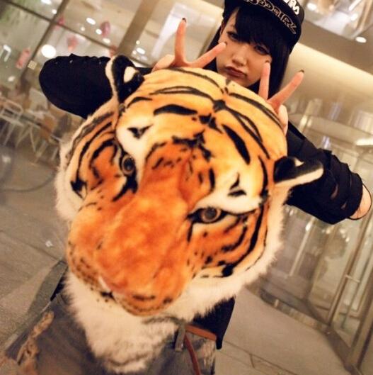el envío gratuito nueva llegada de animales tigre 2014 mochila de moda 3d animales de dibujos animados mochila de las mujeres