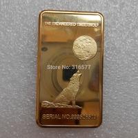 Wholesale California Yosemite National Park Half Dome Bullion Bar/Gold Ingot (Brass +gold plated) Non-magnetic