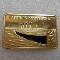 Wholesale Titanic Bullion Bar/Gold Ingot (Brass +gold plated) Non-magnetic
