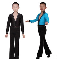 Latin dance clothing style boy's dance costumes match latin set AN2 can costumized the size dance sets