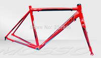 MOSSO 722TB7 Ultralight 700C Road Bicycle Frame 7005 Aluminum Alloy 700C + Road Bike Fork +Headset 2 colors