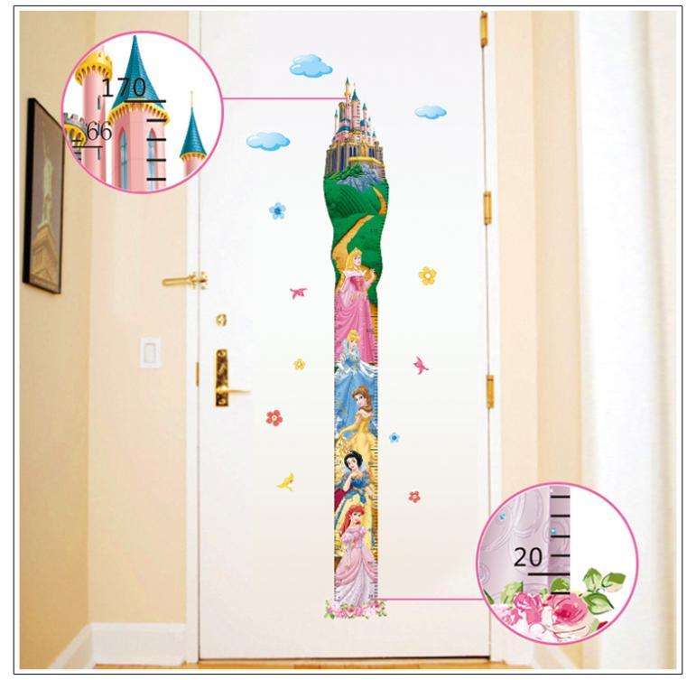 quarto jardim das fadas:Princess Height Chart Stickers