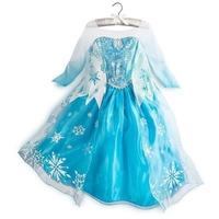 Free shipping 2014 Autumn New Arrival frozen elsa girl dress,costume dress,big snowflake princess dress,5pcs/lot wholesale