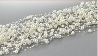 DF017 ivory pearl beads chain flowers wedding party holding flower decoration bride's hair decoration 30pcs(36m)/Lot