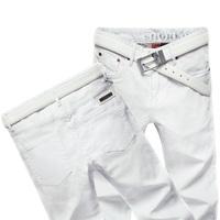 2014 New Fashion Men Calca Jeans Masculina Famous Brand Slim Fit Straight Leg Cotton Denim Pants Designer White Jeans Male 8010