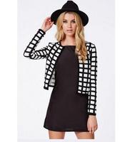 YG543-1 Free shipping 2014 Spring/autumn womens cotton short jackets female coat floral printed coats casacos femininos