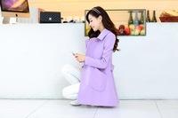 2014 winter new Korean Women long sections woolen coat wool cashmere woolen jacket wholesale free shipping