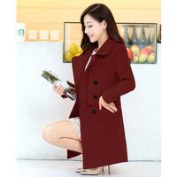 free shipping 2014 Winter new arrival lim wild ladies woolen long coat jacket women a generation of fat Woolen coats