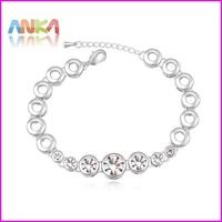 2015 Promotion Trendy Women Plant Indian Jewelry Pulseiras Bracelets Bangles 18k Plated New Crystal Jewelry Bracelets #107803