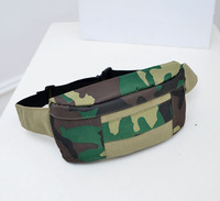 Free Shipping 2014 Casual Army Green Small Men Canvas Waist Bag Chest Travel Bag Sport Waist Bag