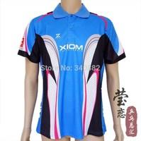 ORIGINAL XIOM T-shits table tennis shirt Qualilty Guarantee blouse ping pong xiom T-shirt blue jersey sports uniform