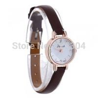 Free Shipping 5pcs Women Quartz Movement Wristwatch Wrist Watch Brown PU Leather Band Strap Gift