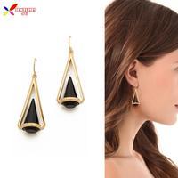 2014 new fashion elegant 18K gold plated glass crystal designer drop earrings for women brincos bijoux wholesale