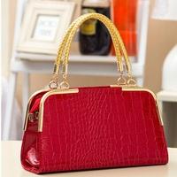 2014 New Hot Promotion women leather handbag fashion stone pattern shoulder bags Bride totes Europe style women messenger bags