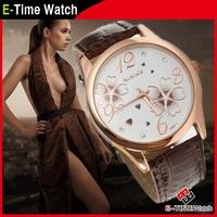 2014 Fashion Wristwatches Women Dress Watches Leather Strap Watch relogios feminino Women Quartz Watch QZ4364