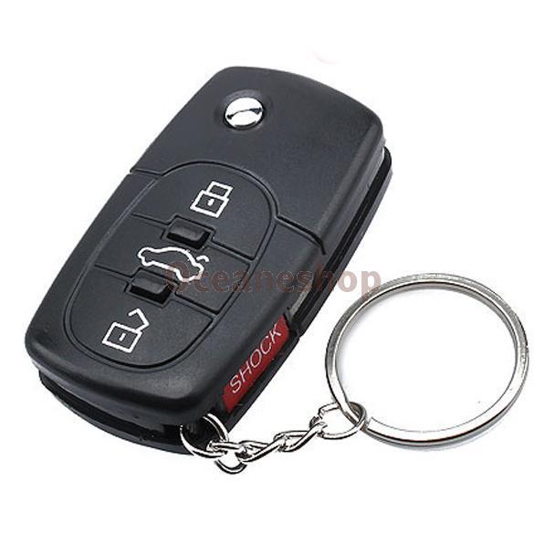 Electric Shock Car Key Toy Gag Practical Joke Toy Prank Car Key LED Car Key Toy Remote Fun C BHU2(China (Mainland))