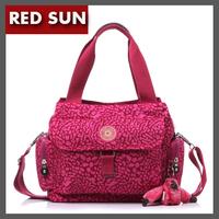 RED SUN Fashion handbags 10 colors small New Nylon shoulder bag concise kippling ladys travle messenger bag side pocket NB1629