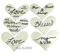 """NEW! 20PCS New Style """"Heart"""" Floating Charm Origami Owl """"Mix style"""" Window Plate Silver,Suitable 30mm Locket Jewelry pendants"""