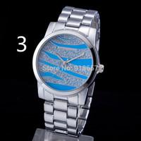 Free Shipping 2014 New Fashion Ripple Stainless Steel Women Watches Men Luxury Brand michel Kors Watch Women Dress Watch 6 Color