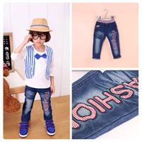 Children's jeans 2014 child baby FASHION jean