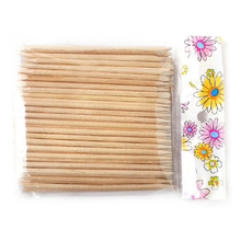 Free Shipping 100Pcs Orange Wood Sticks Nail Art Care Salon Cuticle Pusher Remover Manicure Tool(China (Mainland))