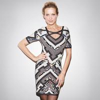 2014 New Sale Dresses Vestido De Festa Women Summer Dress Fashion Slim Waist Sexy V-neck Cutout Bandage One-piece Dress Hip