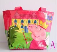 peppa pigr nylon backpack children shopping bag satchel shoulder bag waterproof 5pcs /lot