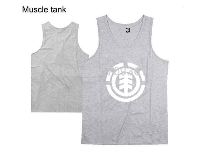 nova chegada camiseta regata elemento tops marca de moda roupas de ginástica ossos hip hop roupas fitness musculação cinza muscular(China (Mainland))