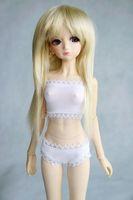 38# White Underwear/Bra/Briefs 1/4 MSD DOD BJD Dollfie