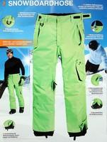 Plus cotton windproof waterproof outdoor skiing pants trousers male 760g
