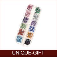 Rosalind 2014 New Nail Art 1.5-2 mm 12 colors Nail tools Round Acrylic Rhinestone Perfect for 3D Nail Art Decoration