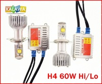 2014 Nestest H4 60W USA CREE 8000LM 4th Generation LED Headlight High Power 10-40V LED Coversion Kit  H7 H11 9005 9006 GGG